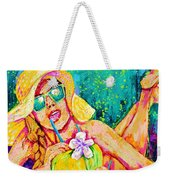 Moment In Paradise, Vacation Painting Weekender Tote Bag