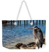 Regal Great Blue Heron Weekender Tote Bag
