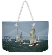 Regatta In Charleston Harbor Weekender Tote Bag
