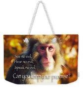 Regulation Of A Monkey Weekender Tote Bag