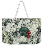 Reindeer Lichen And Low-bush Cranberry Weekender Tote Bag