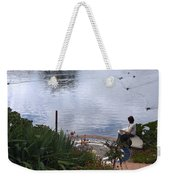 Relaxing By The Lake Weekender Tote Bag