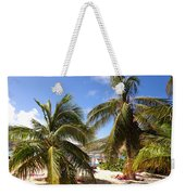 Relaxing On The Beach. Pinel Island Saint Martin Caribbean Weekender Tote Bag