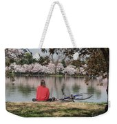 Relaxing Under Cherry Blossoms Weekender Tote Bag