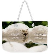 Reflected Little Stinger Taking A Sip By Chris White Weekender Tote Bag