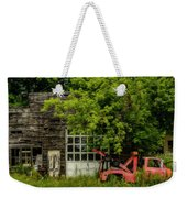 Remains Of An Old Tow Truck And Garage Weekender Tote Bag