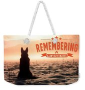 Remembering A Lifetime Weekender Tote Bag by Kathy Tarochione