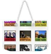Remix - Artists Page  Weekender Tote Bag