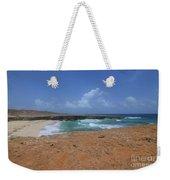 Remote Daimari Beach With Waves Rolling Ashore Weekender Tote Bag