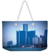 Gm Renaissance Center In Downtown Detroit, Michigan Weekender Tote Bag