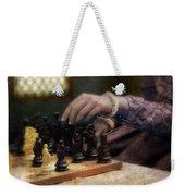 Renaissance Lady Playing Chess Weekender Tote Bag