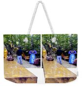 Renaissance Slide - Gently Cross Your Eyes And Focus On The Middle Image Weekender Tote Bag