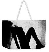 Renew And  Repeat Bw Weekender Tote Bag