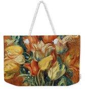 Renoir: Bouquet Of Tulips Weekender Tote Bag by Granger