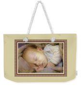 Renoircalia Catus 1 No. 2 - Adorable Baby L B With Decorative Ornate Printed Frame. Weekender Tote Bag