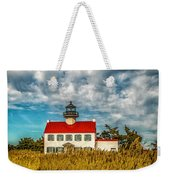 Renovated East Point Lighthouse Weekender Tote Bag