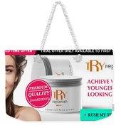 Replenish Cream Weekender Tote Bag