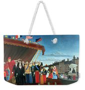 Representatives Of The Forces Greeting The Republic As A Sign Of Peace Weekender Tote Bag