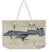 Republic A-10 Thunderbolt II - Profile Art Weekender Tote Bag