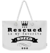 Rescued Crown Dark Weekender Tote Bag