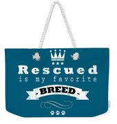 Rescued Crown Light Weekender Tote Bag