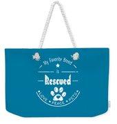 Rescued Love Peace Pets Light Weekender Tote Bag
