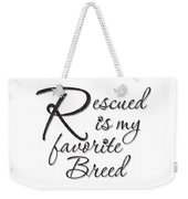 Rescued Weekender Tote Bag