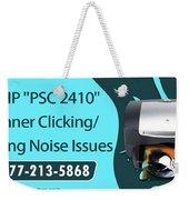Resolve Hp Psc 2410 Scanner Clicking Grinding Noise Issues Weekender Tote Bag