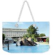 Resort With Swimming Pool Summer Vacation Scene Weekender Tote Bag