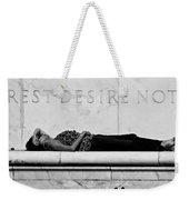 Rest Desire Not Weekender Tote Bag
