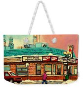 Restaurant Greenspot Deli Hotdogs Weekender Tote Bag