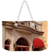 Restaurant In The Plaza Weekender Tote Bag