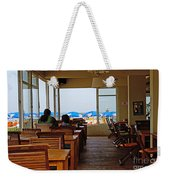 Restaurant On A Beach In Tel Aviv Israel Weekender Tote Bag