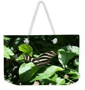 Resting - Black And White Butterfly Weekender Tote Bag