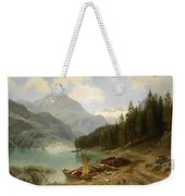 Resting By The Mountain Lake Weekender Tote Bag