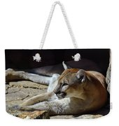 Resting Cougar Weekender Tote Bag
