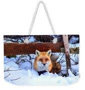 Resting Fox Weekender Tote Bag
