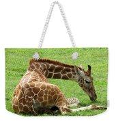 Resting Giraffe Weekender Tote Bag