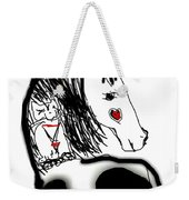 Resting Horse And Cat Weekender Tote Bag