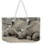 Resting Rhinos Weekender Tote Bag