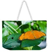 Resting--tropical Butterfly Weekender Tote Bag