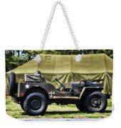 Restored Willys Jeep And Tent At Fort Miles Weekender Tote Bag