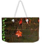 Retaining Wall In Autumn Weekender Tote Bag