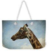 Reticulated Giraffe Head Weekender Tote Bag