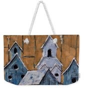 Retired Bird Houses By Prankearts Fine Arts Weekender Tote Bag