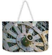 Retired Plow Wheel Weekender Tote Bag