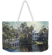 Retirement On The River 01 Textured Weekender Tote Bag