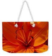 Retreating Orange Lilies Weekender Tote Bag