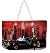 Retro Bat Woman Weekender Tote Bag