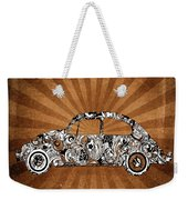 Retro Beetle Car Weekender Tote Bag